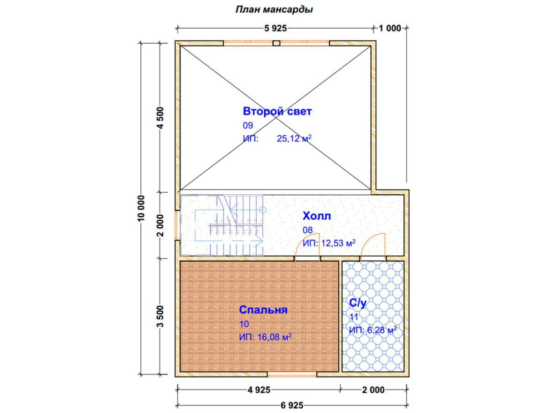 Проект дома 9х10м ДБ-81